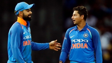 India captain Virat Kohli strengthened his position at the top of ICC ODI rankings for batsmen while Kuldeep Yadav broke into the top-10 of the bowlers' chart.