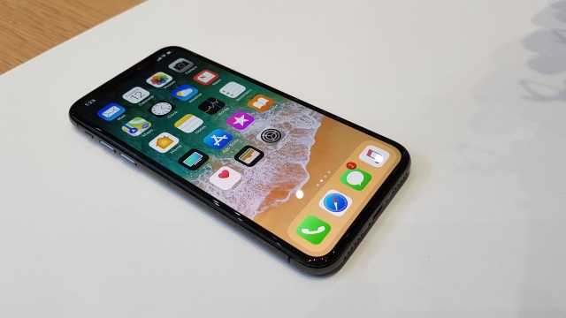 5.8-inch Super Retina OLED display on the iPhone X.