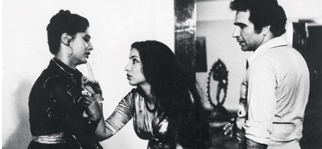 Smita Patil, Shabana Azmi and Kulbhushan Kharbanda in Mahesh Bhatt's <i>Arth.</i>