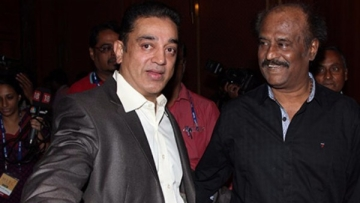 Kamal Haasan and Rajinikanth. (Photo Courtesy: Twitter)