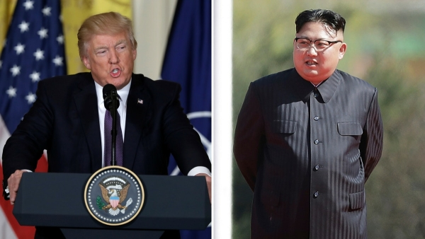 US President Donald Trump and North Korea's Kim Jong-Un.