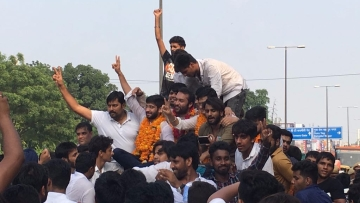 For the first time since 2012, NSUI has bagged the post of the president in the Delhi University Students' Union elections.