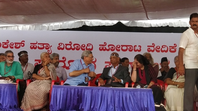 Medha Patkar, Sitaram Yechuri, Teesta Setalvad, Siddarth Varadarajan and AK Subbaiah to speak at #IAmGauri rally.