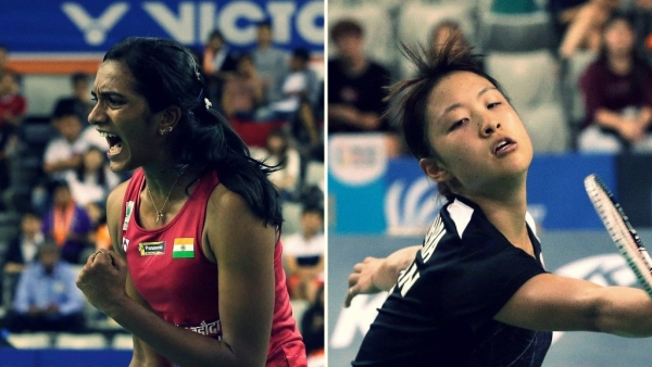 PV Sindu and Okuhara faced off each other on Sunday.