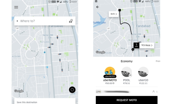This is how UberMoto shows up.