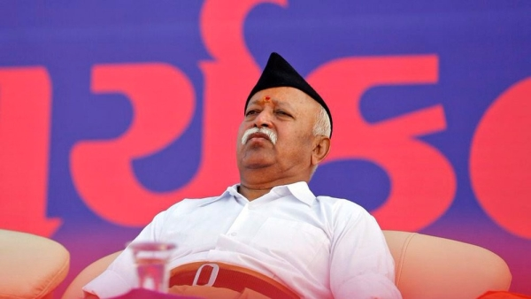 Image of RSS chief Mohan Bhagwat used for representational purposes.