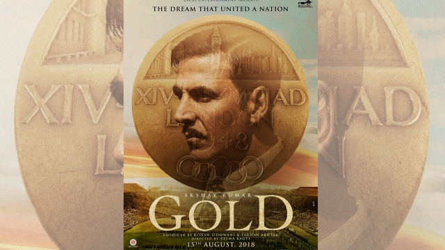 Akshay Kumar in a poster of <i>Gold</i>.