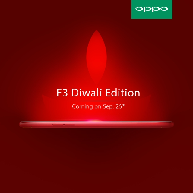 OPPO is here to add that extra glitter to your Diwali celebrations with its OPPO F3 Diwali Edition phone (Photo: OPPO)