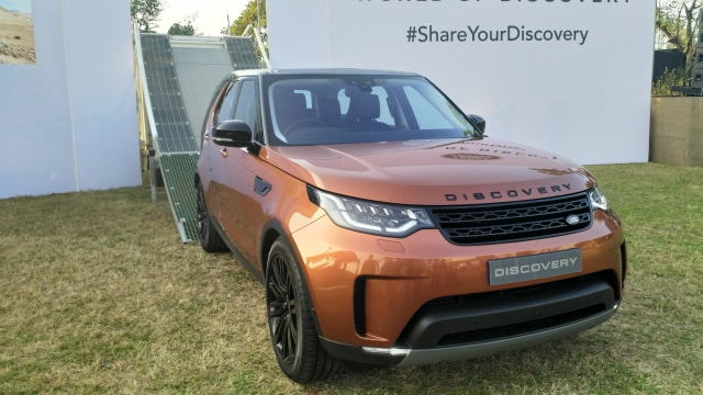 The new 7-seater Discovery comes in petrol and diesel options.