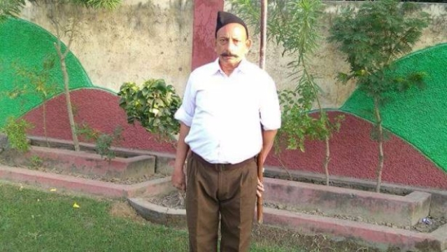 File photo of RSS leader Ravinder Gosai, who was killed in October 2017.