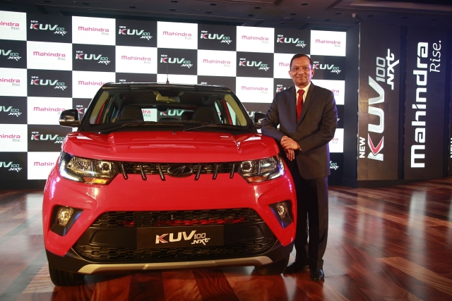 Pawan Goenka, MD, Mahindra with the KUV100 NXT launched in October 2017, used for representational purposes.