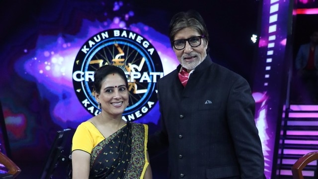 Anamika Majumdar says Amitabh Bachchan seemed more overjoyed at her win.