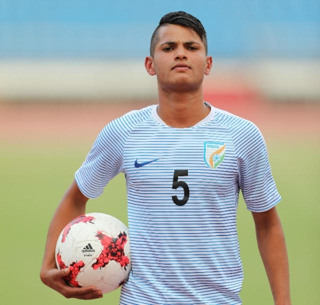 Sanjeev Stalin is a defender in the India U-17 team.