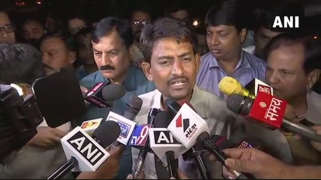 Alpesh Thakor talks to the media following his decision to join Congress.