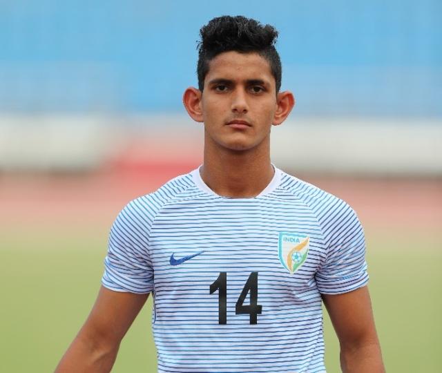 Jitendra Singh is a defender in the India U-17 team.