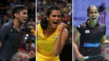 Kidambi Srikanth, PV Sindhu, and Saina Nehwal.