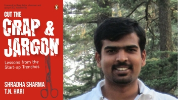 The writer talks about his experience working with Raghunandan G, Taxi For Sure founder (R).