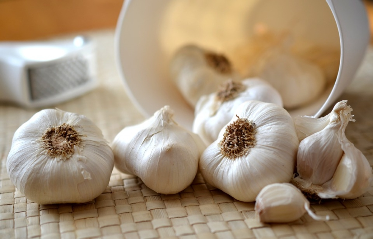 Swallow a clove or two of raw garlic first thing in the morning.