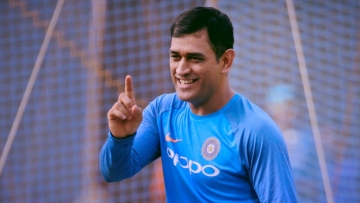 MS Dhoni during India's training session in Mumbai on Friday.