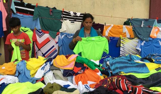 Sanjeev Stalin's mother sells sports jerseys in Bangaluru.