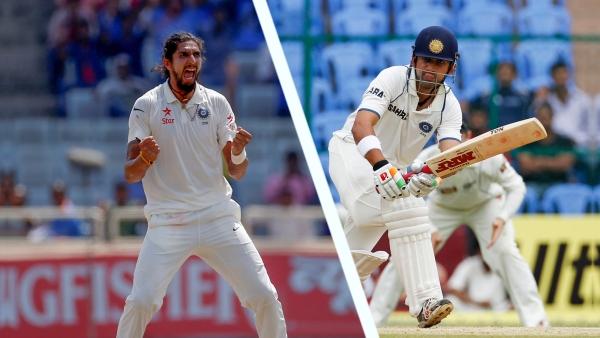 Ishant Sharma (L) and Gautam Gambhir (R).