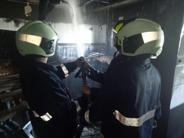 Efforts are being made to bring the situation under control after the fire.