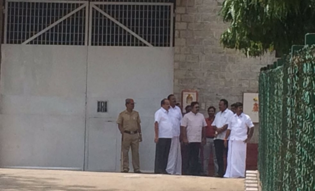 TTV Dhinakaran waiting outside the main entrance of Parappana Agrahara to meet aunt VK Sasikala, who is expected to get parole today.