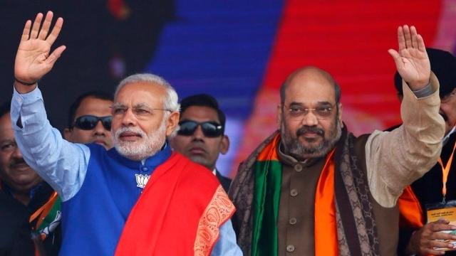 BJP president Amit Shah and Prime Minister Narendra Modi.