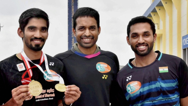 Kidambi Srikanth (left) and HS Prannoy (right), India's top-ranked men's singles players, are missing the Nationals due to fitness issues.