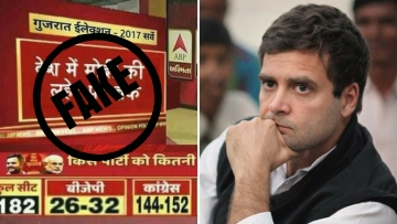 As Gujarat gears up for the much-awaited assembly elections, a fake image has gone viral on the social media that predicts a big win for the Congress.
