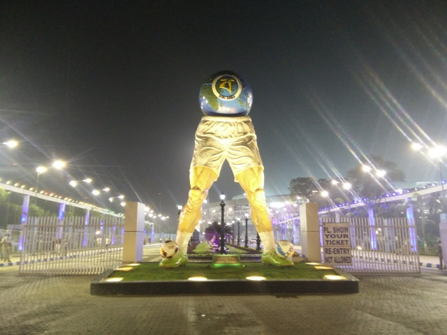 The Yuba Bharati Krirangan Stadium in Kolkata which was revamped for the U-17 Football World Cup.