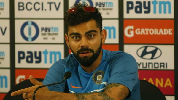 Virat Kohli speaks to the media ahead of the first ODI against New Zealand.