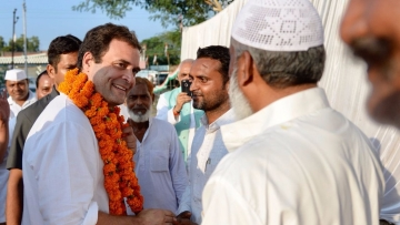 Congress Vice President Rahul Gandhi during his visit to Amethi.