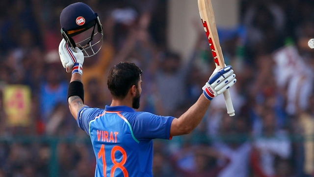 Virat Kohli has an average of 57.5, which is the highest in the history among all batsmen who have played more than 100 ODIs.