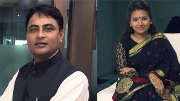 Patidar leaders Reshma Patel and Varun Patel.