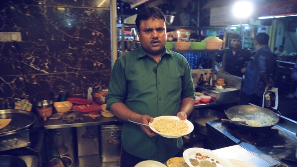 Yaqat Ali with his Italian Desi Pasta.