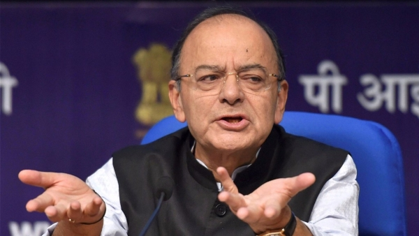 Union Minister for Finance and Corporate Affairs, Arun Jaitley addresses a Press Conference in National Media Centre in New Delhi on Tuesday.