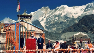 PM Narendra Modi in Kedarnath.