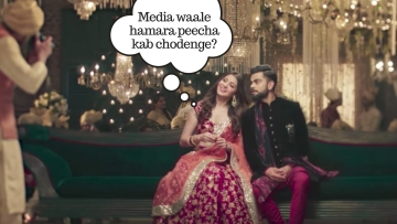 A still from the new ad featuring Anushka Sharma and Virat Kohli.