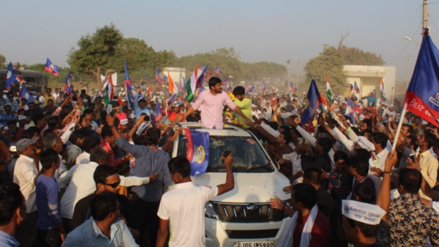 Hardik Patel on his ten-day roadshow against the BJP.