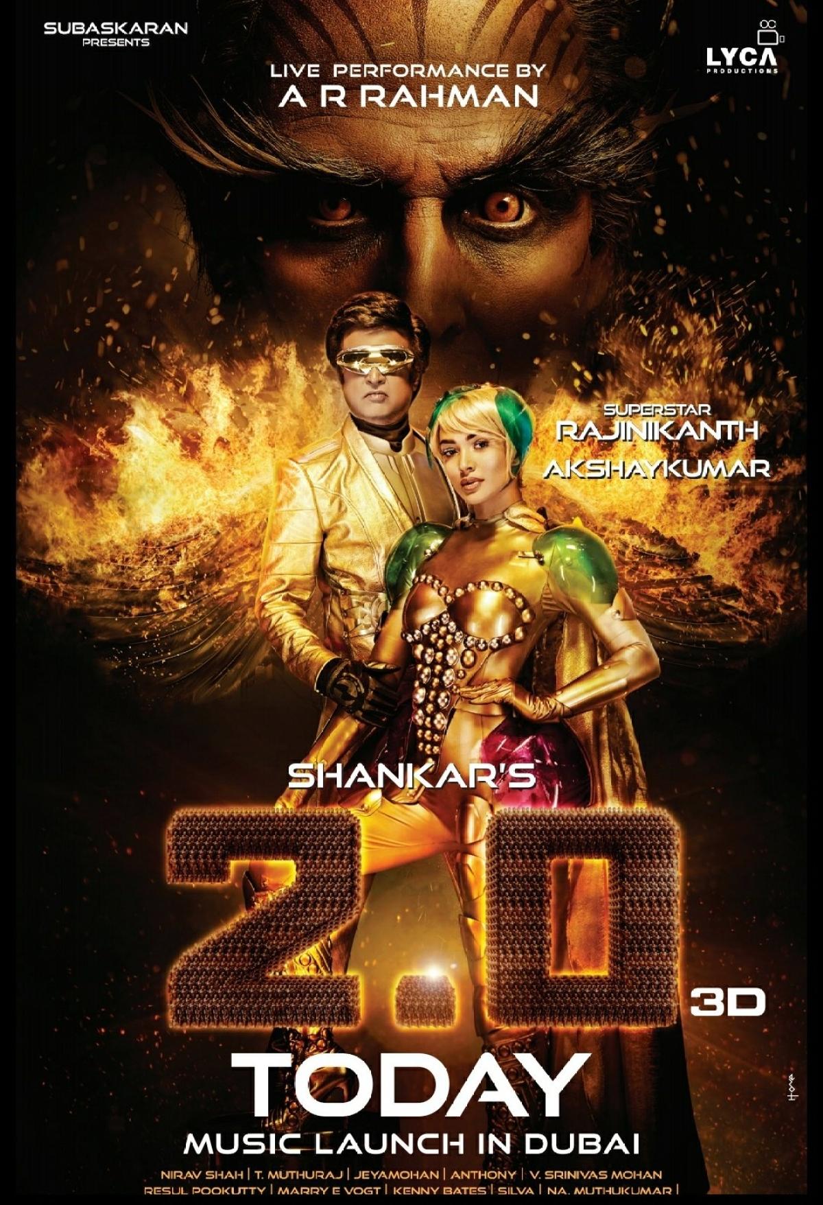Rajinikanth, AR Rahman, Akshay Kumar Launch Music For \'2.0\' - The Quint