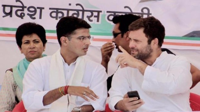 File photo of Congress vice president Rahul Gandhi and party leader Sachin Pilot.