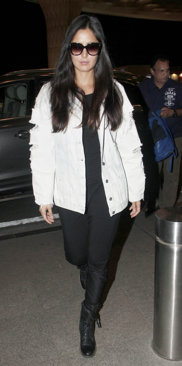 Katrina at the Mumbai airport.