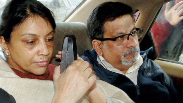 File photo of Aarushi's parents, Rajesh and Nupur Talwar.
