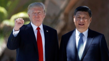 President Donald Trump (left) and Chinese President Xi Jinping pose for photographs at Mar-a-Lago. Image used for representational purposes.