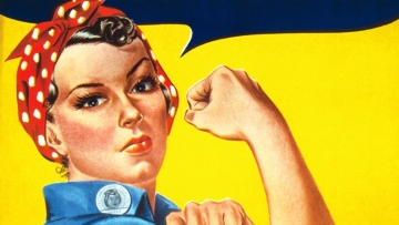 Image of 'Rosie the Rivete', a cultural icon of World War II has been used for representational purposes.