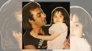 A childhood picture of Trishala with her father Sanjay Dutt.