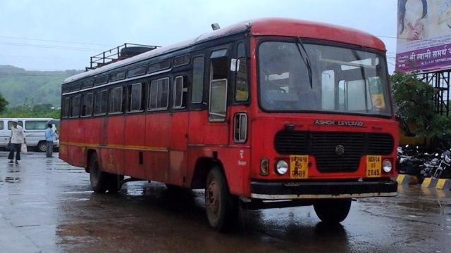 Representational image of a MSRTC bus.