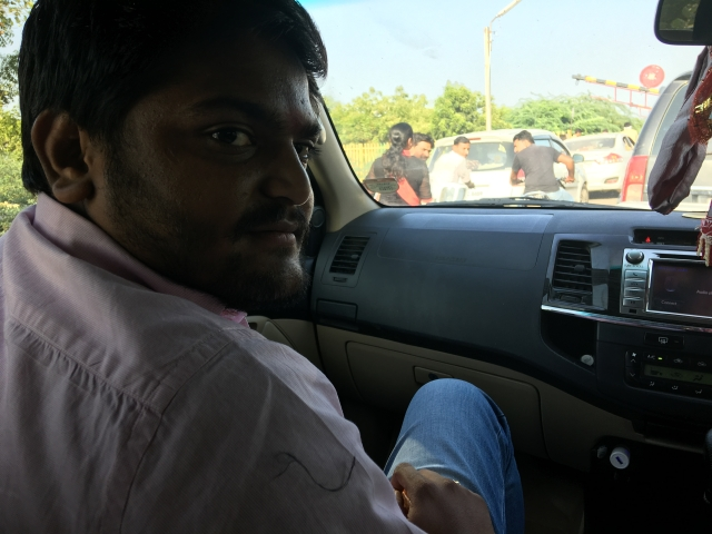 Hardik Patel, a politician who doesn't like being called one.
