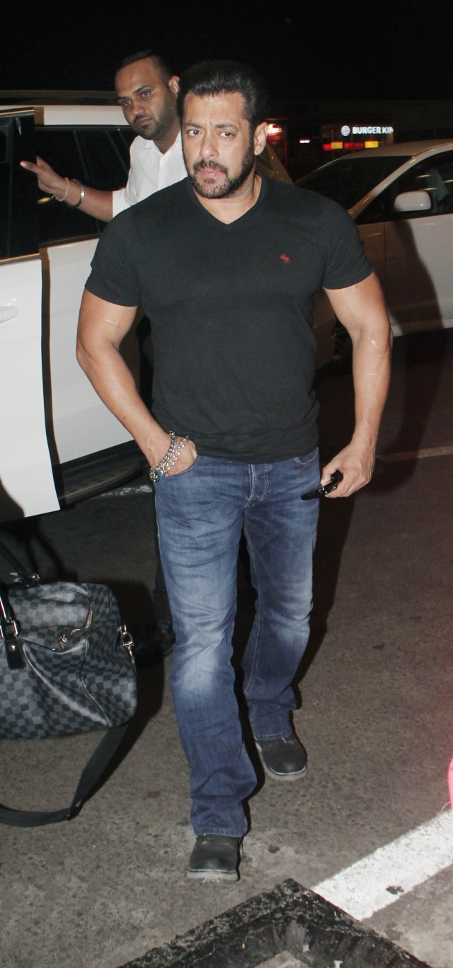 Salman Khan spotted at the Mumbai airport.